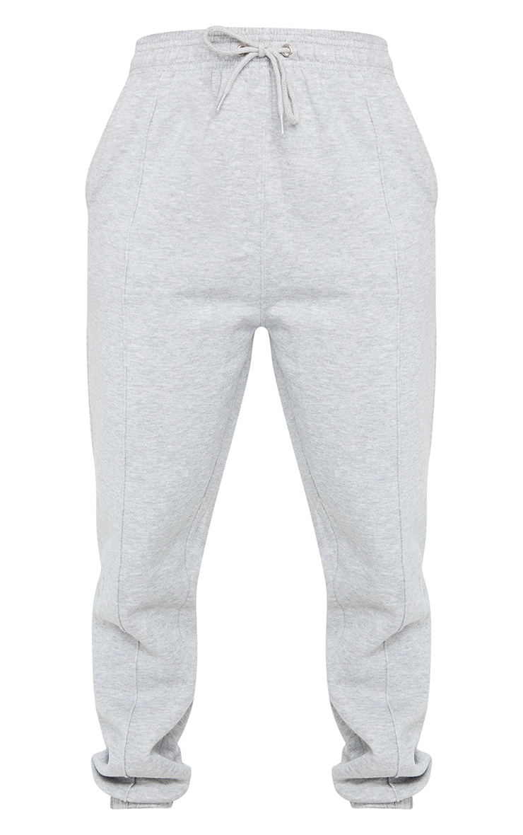 Grey Seam Front Detail Joggers 5