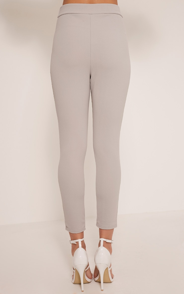 Evalyn Grey Cropped Trousers 4