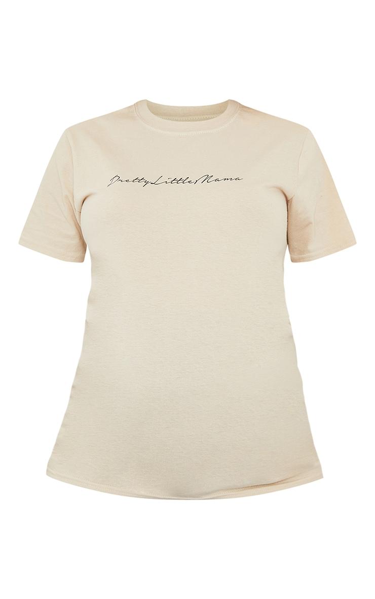 PRETTYLITTLETHING Maternity Stone T Shirt 5