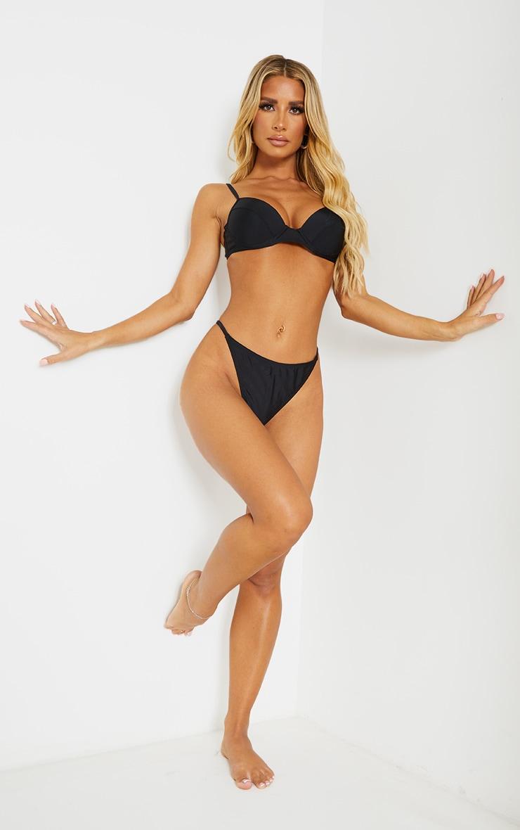 Recycled Black Mix & Match Push Up Cupped Bikini Top 3