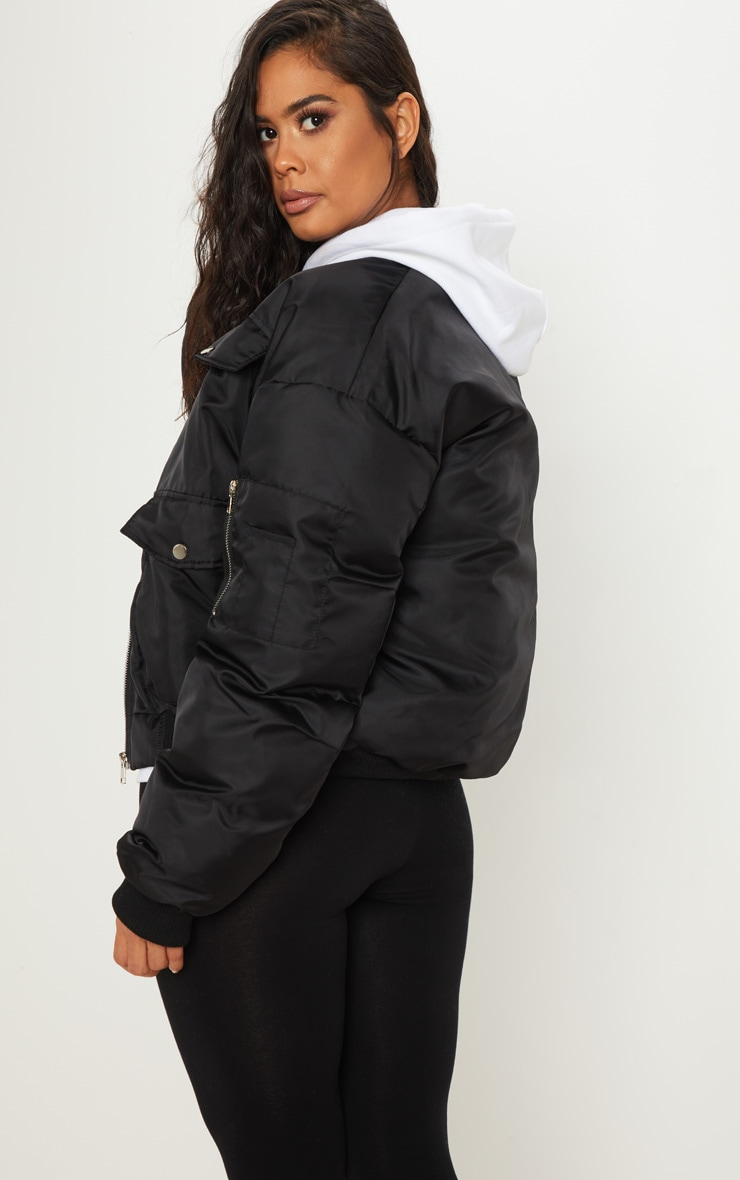 Black Oversized Bomber  2