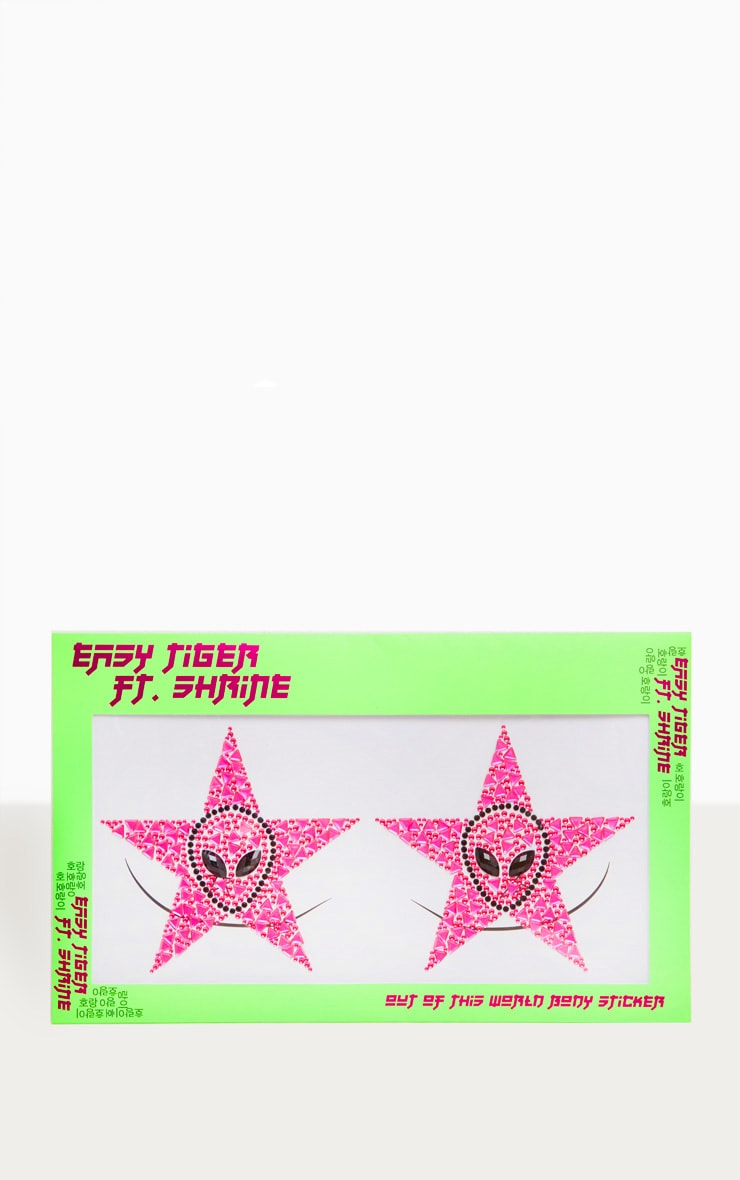 The Gypsy Shrine Out Of This World Body Sticker Neon Pink 1
