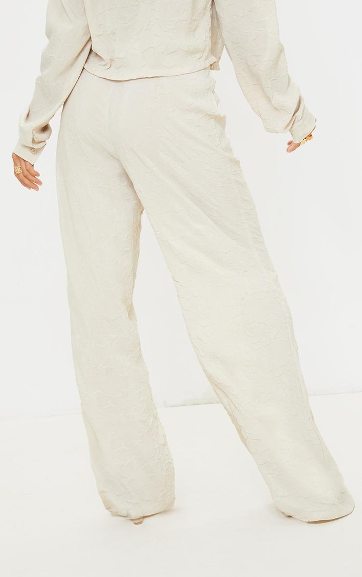 Petite Stone Lightweight Crinkle Wide Leg Trousers 3