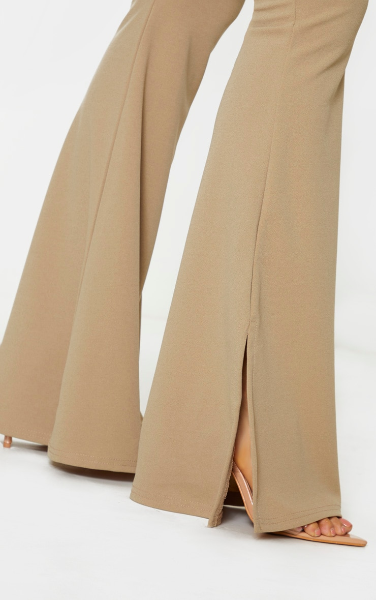 Tall Stone Crepe Belt Detail Trousers 5