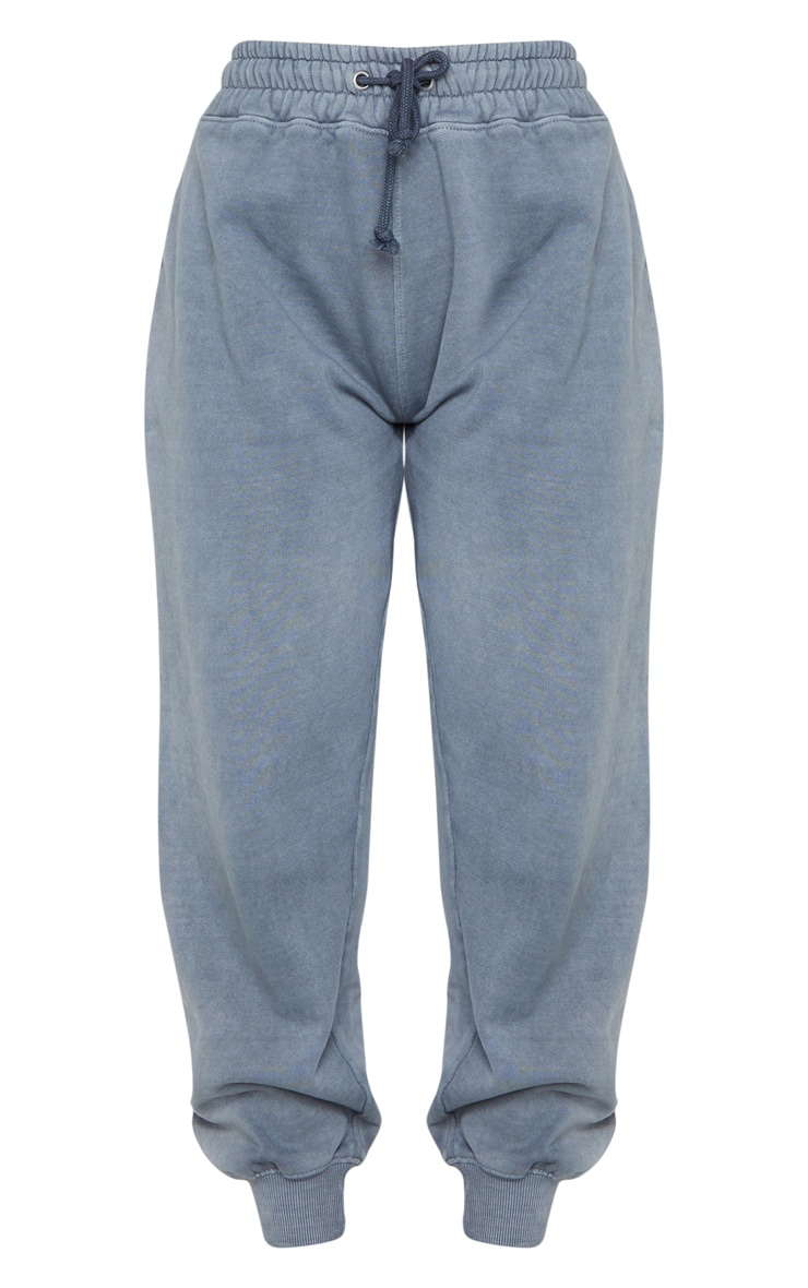 Charcoal Grey Washed High Waist Joggers 5