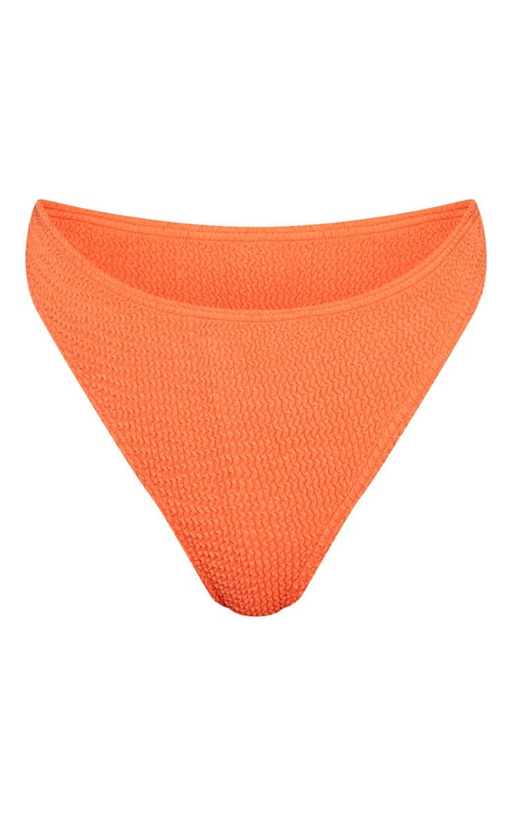 Coral Crinkle Thong Bikini Bottom 6