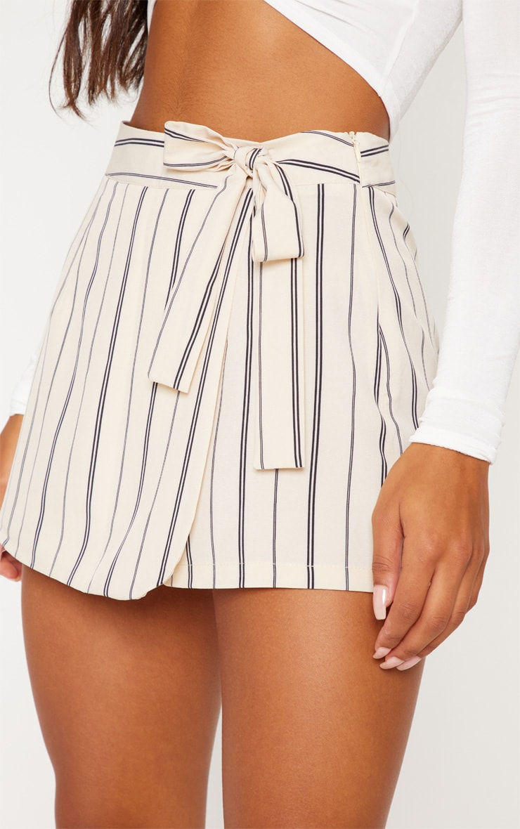 Stone Stripe Side Tie Skort 6
