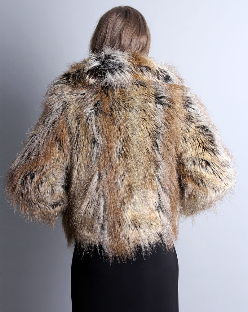 Millie Faux Fur Coat -8 4