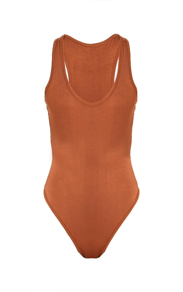 Basic Tan Racer Back Thong Bodysuit Pretty Little Thing How Much Sale Online Buy Cheap 100% Guaranteed ufbaHaB