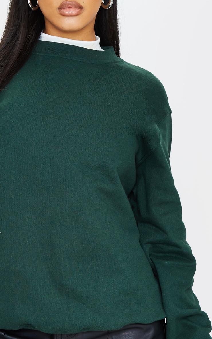 Sweat oversize vert sapin classique 4