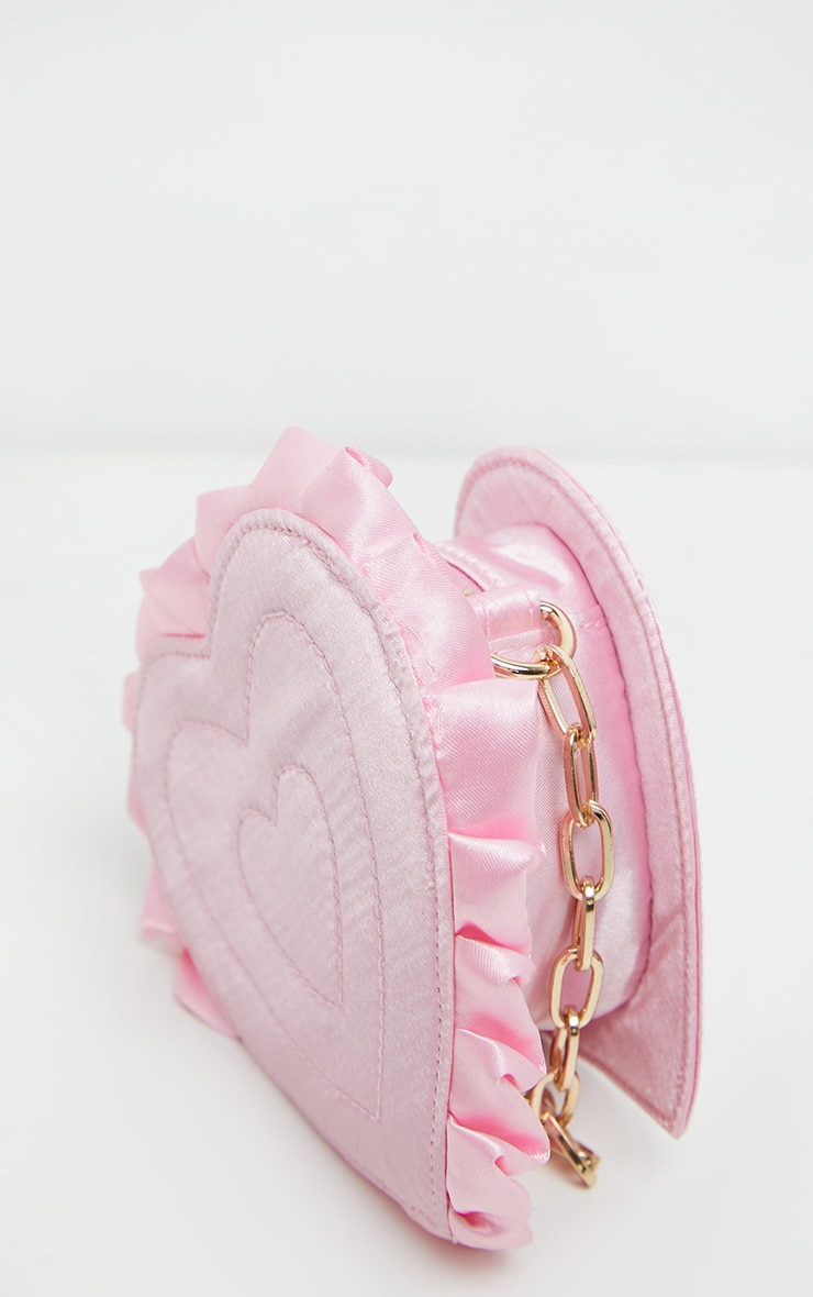 Pink Satin Heart Mini Bag 3