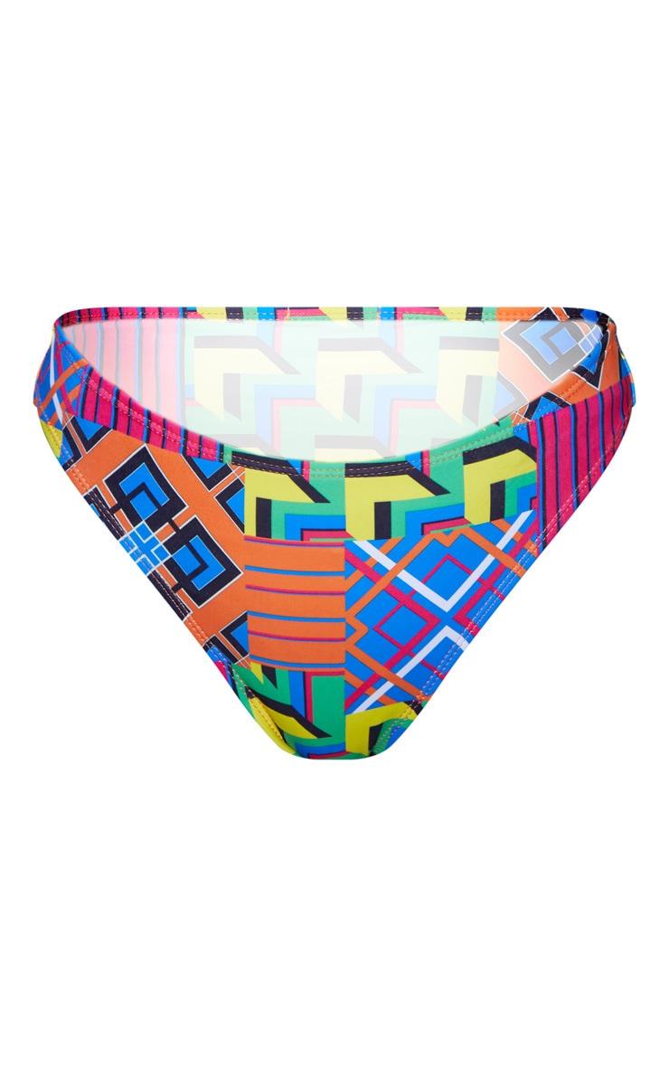 Multi Geo Cheeky Bum Bikini Bottom 3