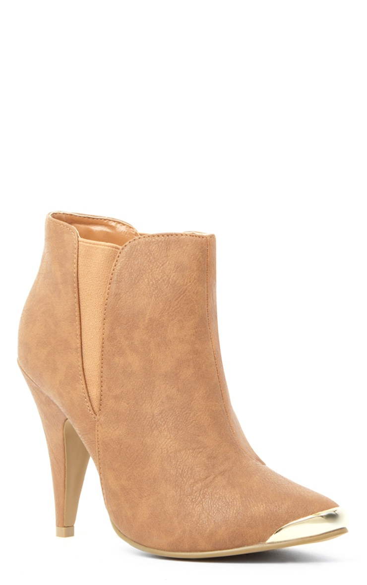 Anastasia Tan Leather Ankle Boots 2