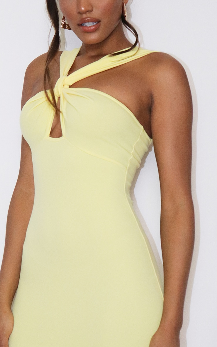 Lemon Bow Detail Cut Out Bodycon Dress 4