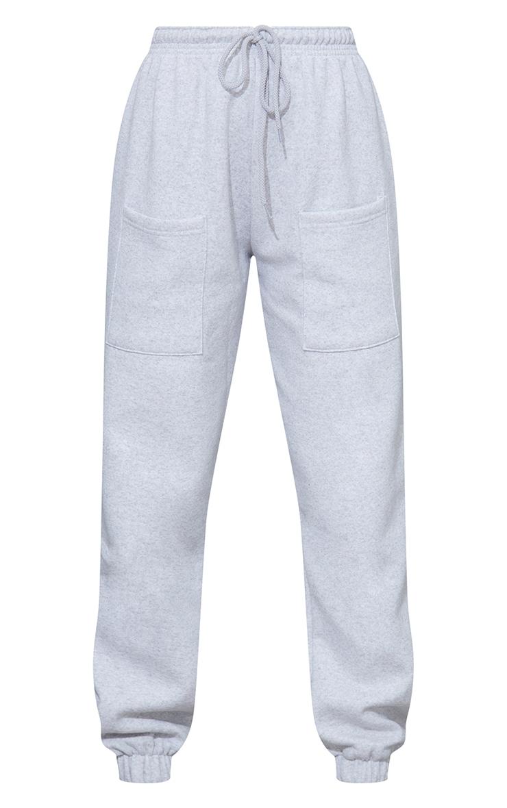 Ash Grey Pocket Casual Joggers 5