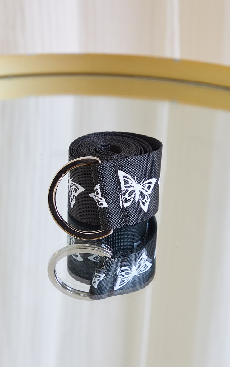 Black With White Butterfly Taping Belt 2