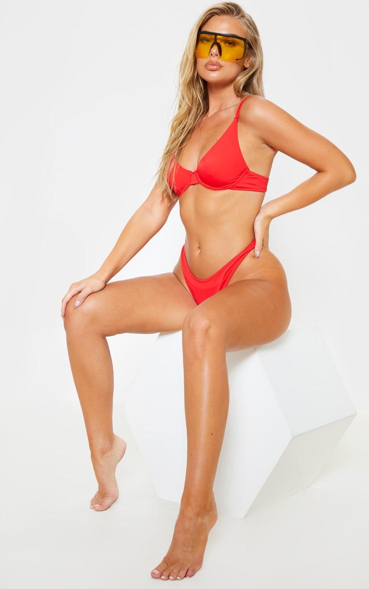 Red Mix & Match Underwired Bikini Top 3