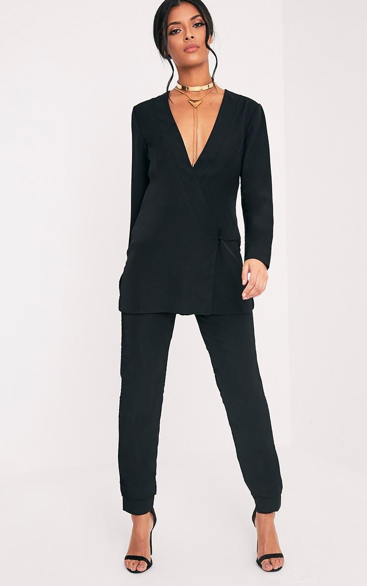 Adelene Black Oversized Blazer Top 5