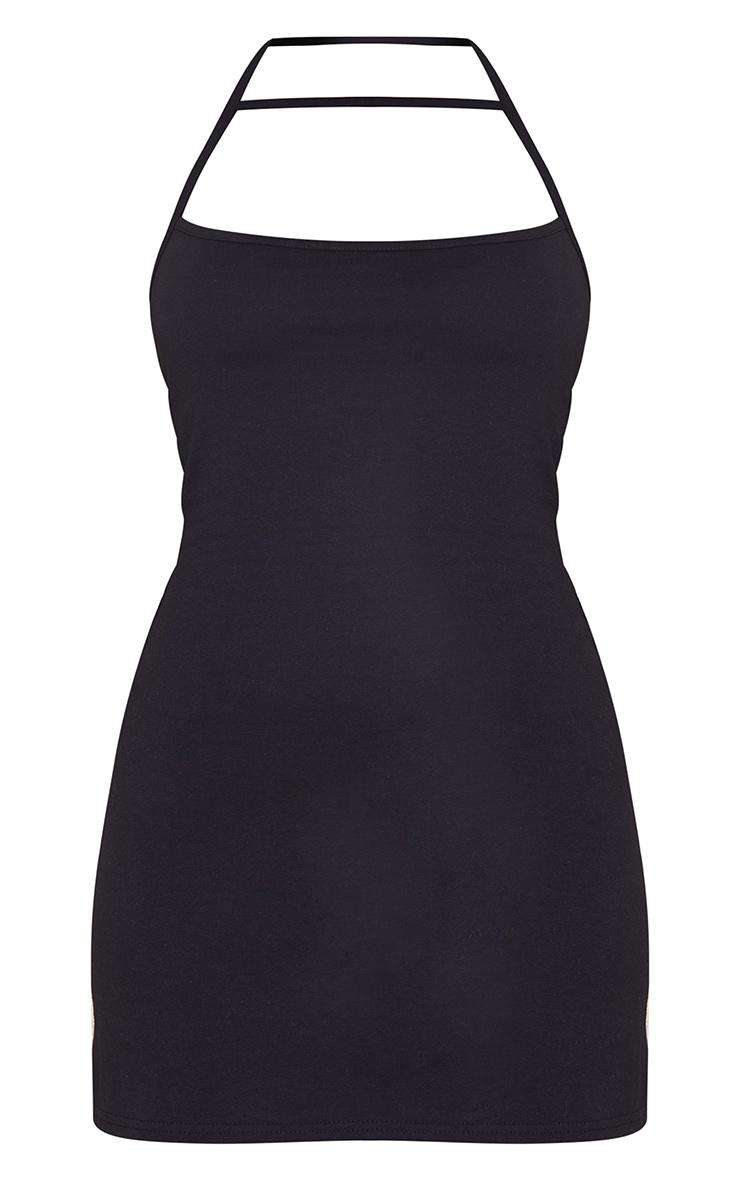 Black Multi Strap Halterneck Shift Dress 5