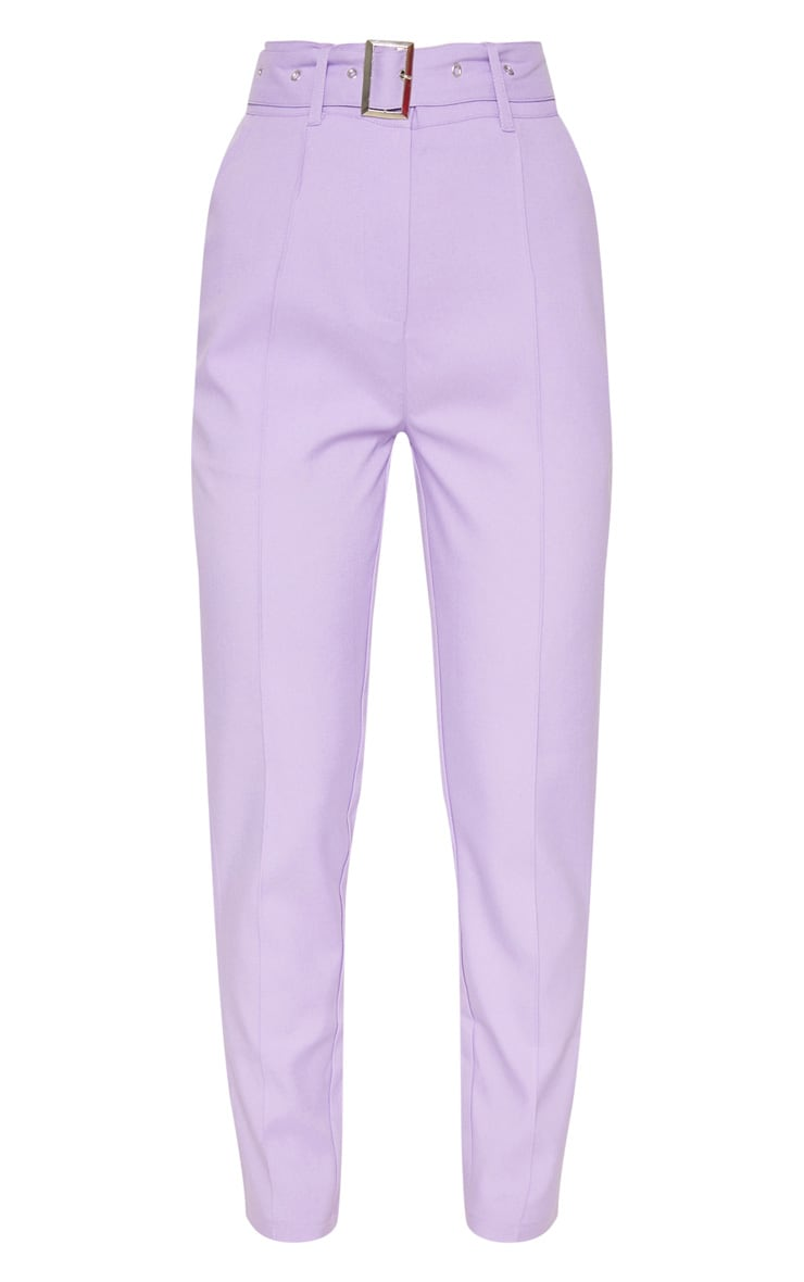 Lilac Belted Tailored Trousers 3