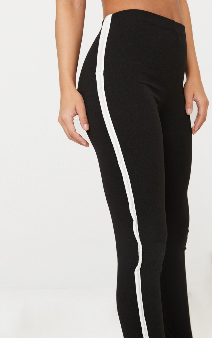 Petite Black Contrast Skinny Trousers 4