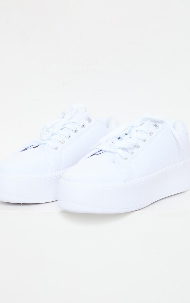 White Flatform Sneakers 4