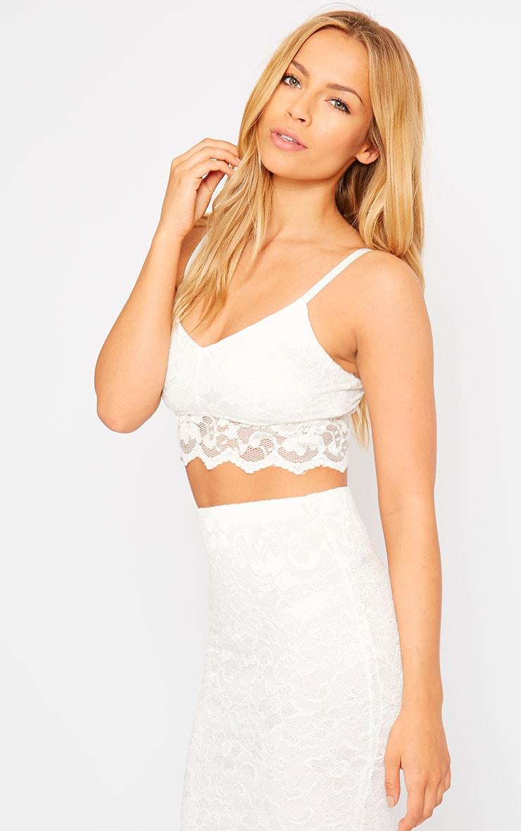 Corinna White Lace Bralet 4