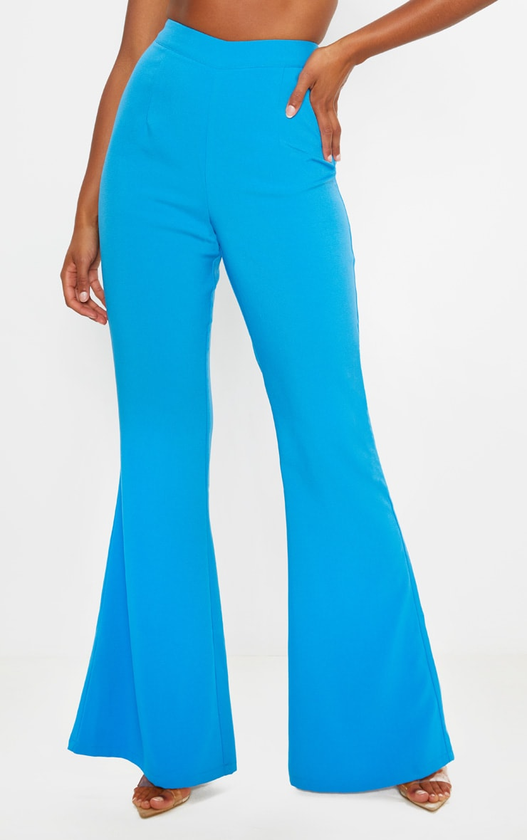Blue Wide Legged Suit Trouser  2
