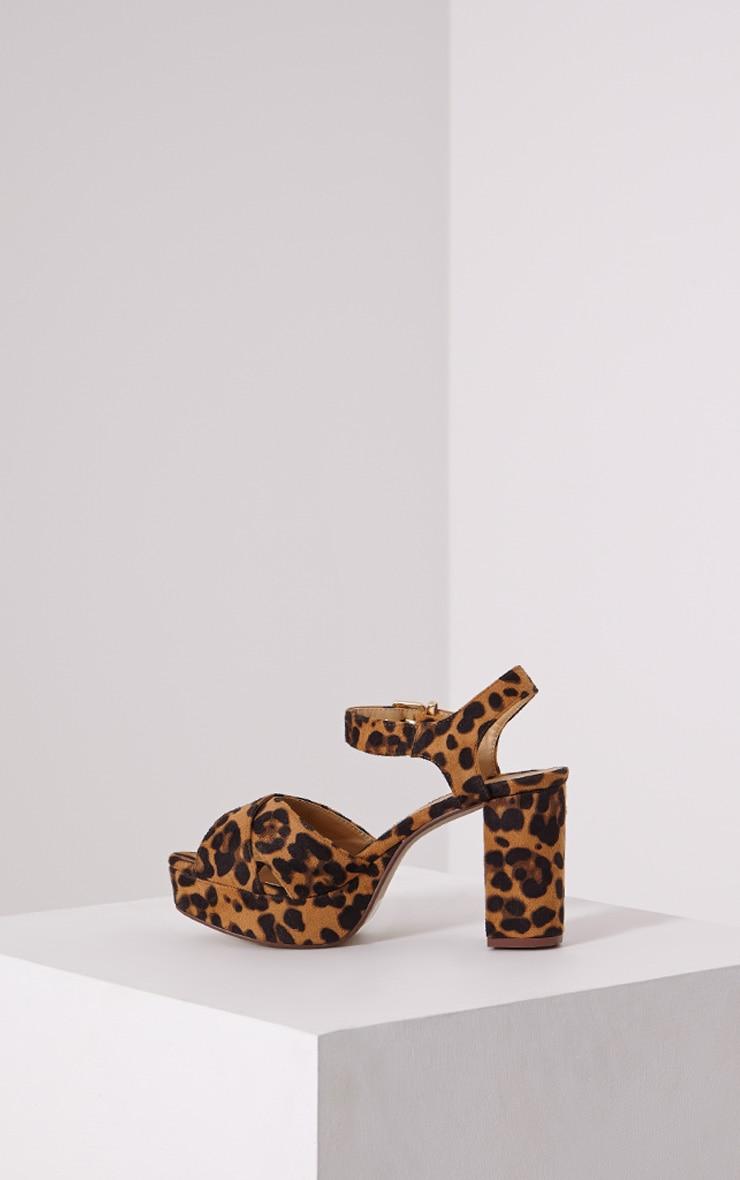 Delta Leopard Faux Suede Sandals 4