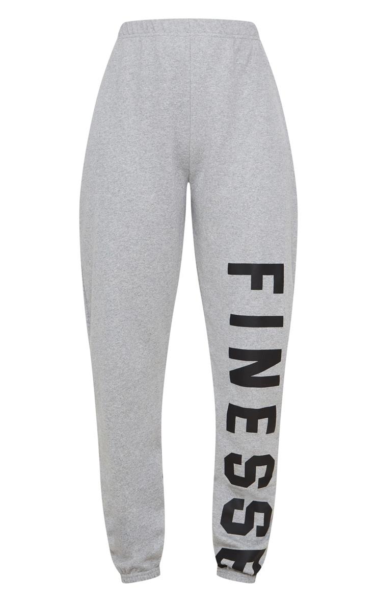 Grey Finesse Slogan Jogger 3