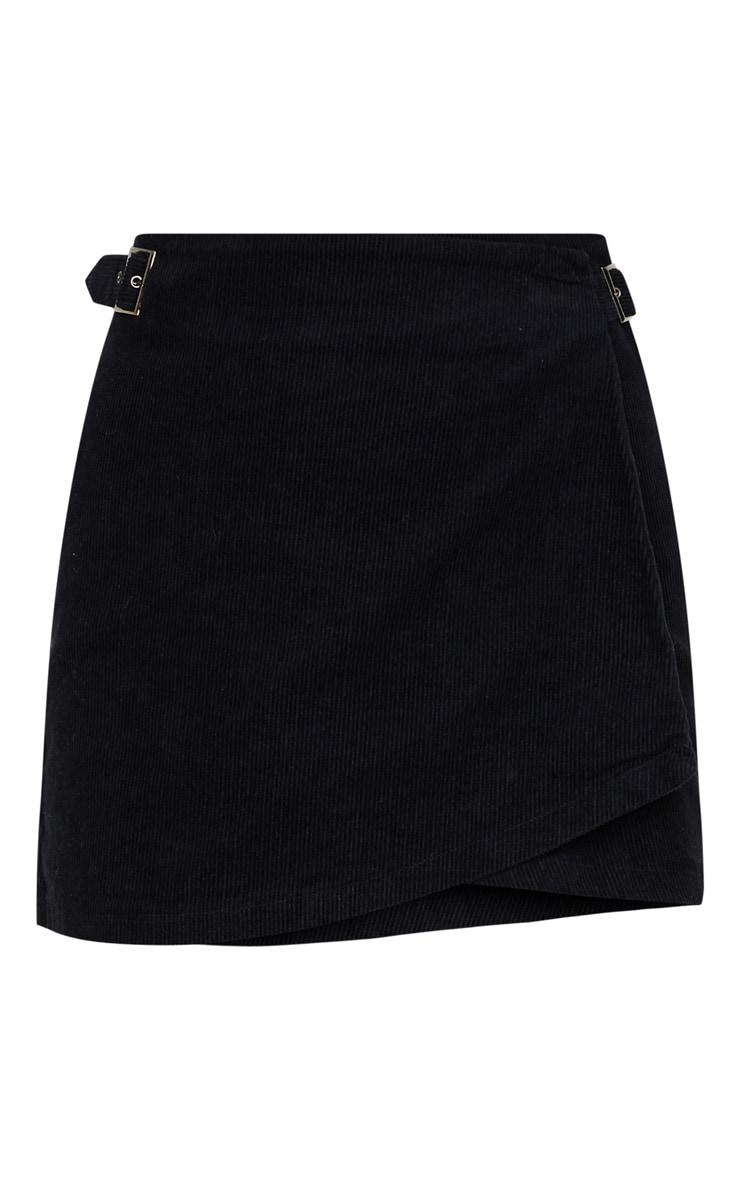 Black Cord Wrap Detail Side Buckle Skirt 3