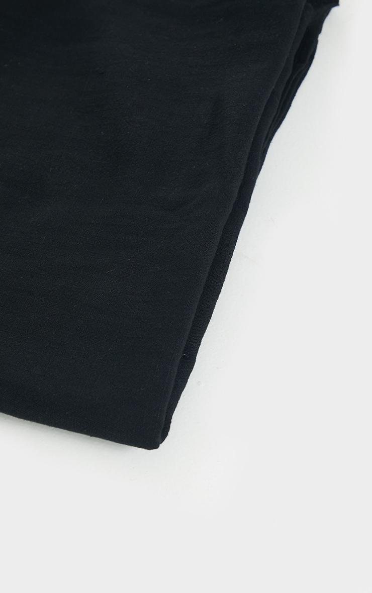 Black Woven Tie Back Head Scarf 2