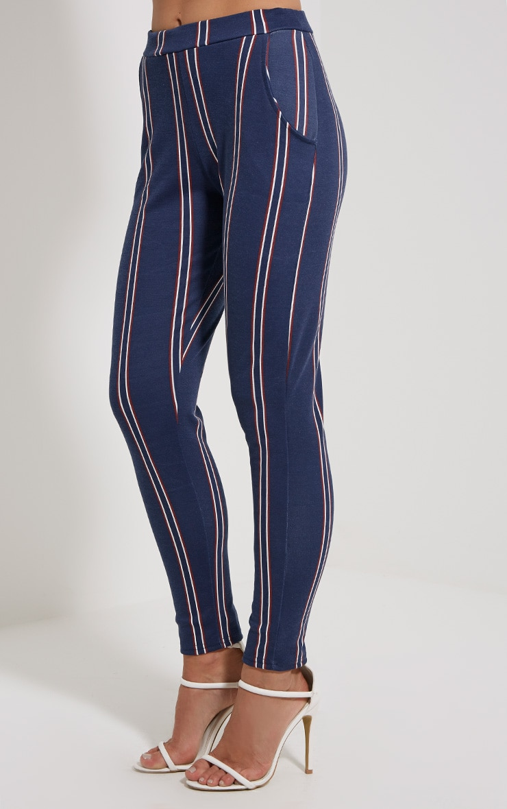 Efren Navy Stripe Trousers 3