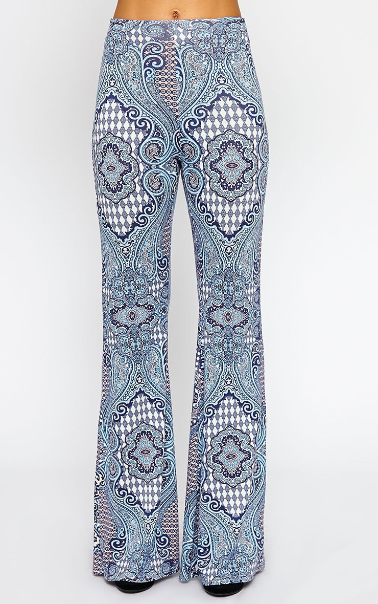 Reeve Print Flare Trousers 3