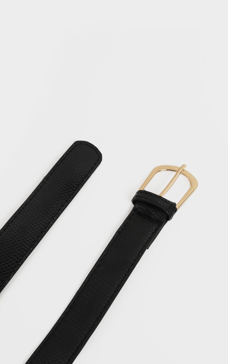 Black Snake Angled Buckle Jeans Belt 5
