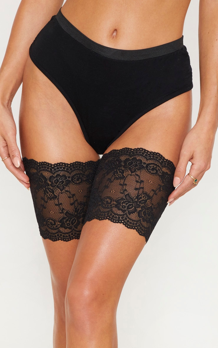 Black Lace Chafing Bands