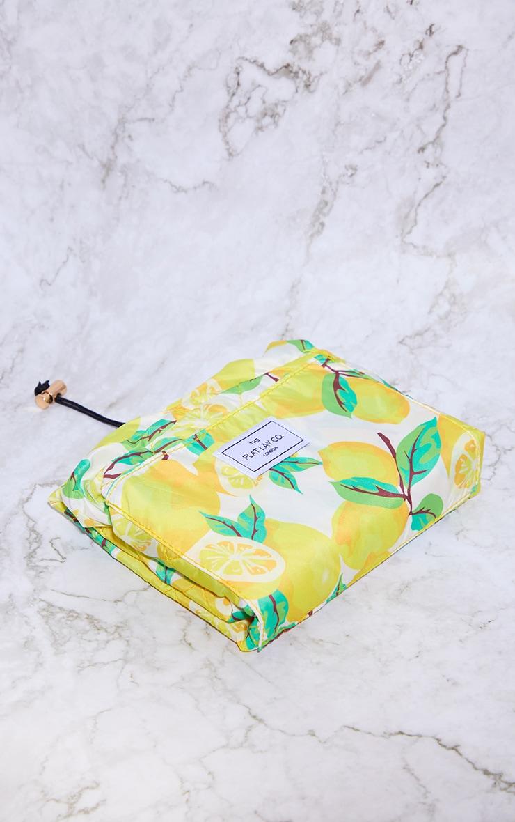The Flat Lay Co Lemons Print Makeup Bag 5