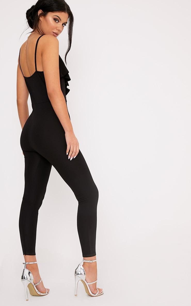 Biancah Black Ruffle Jumpsuit 2