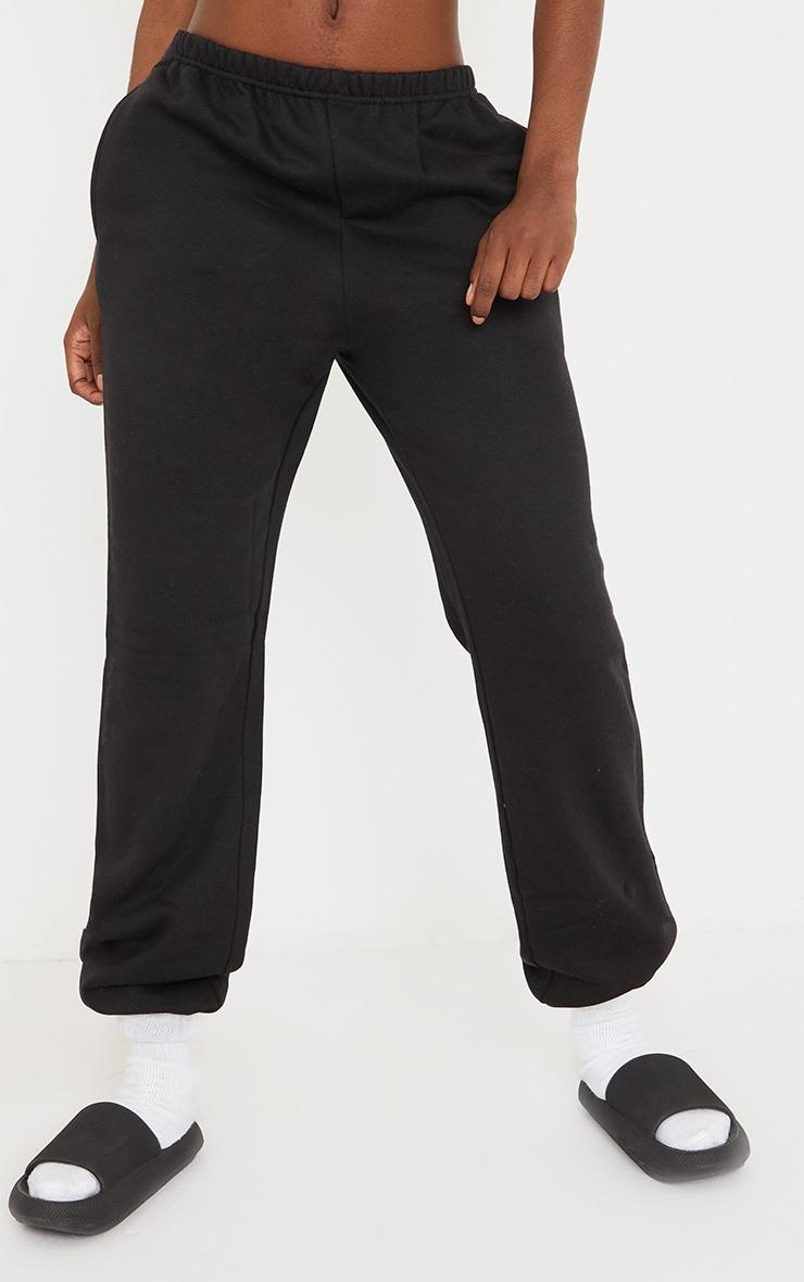 Tall Black Basic Cuffed Hem Joggers 2