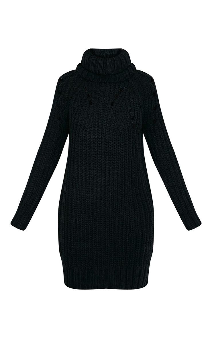 Xael robe surdimensionnée à col roulé extrême noire 3