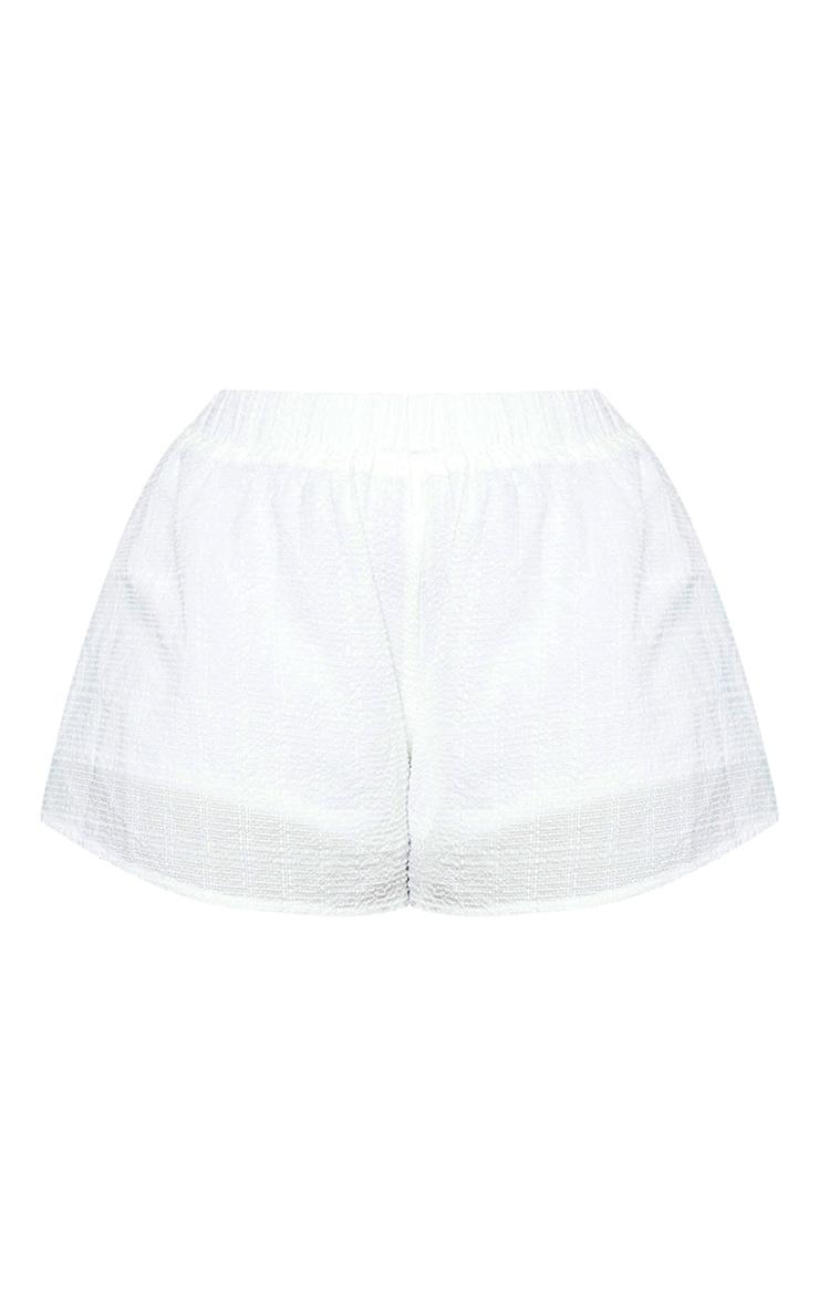 Plus White Floaty Beach Shorts 6