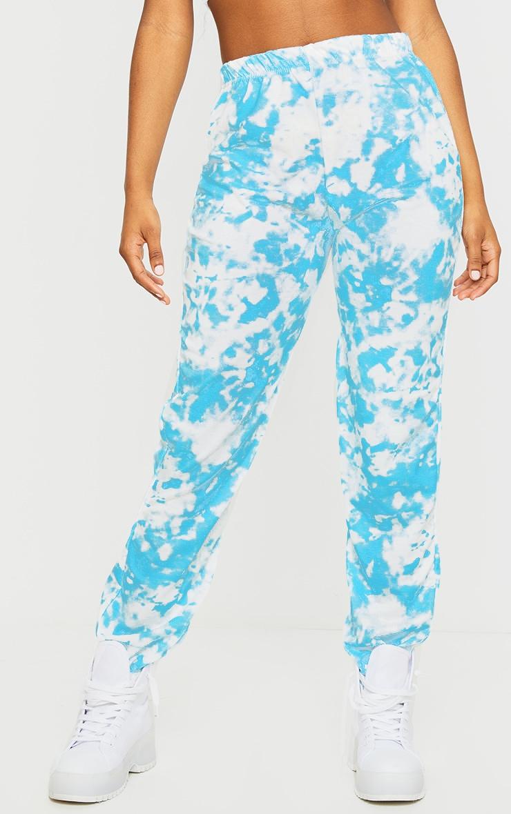 Blue Tie Dye Casual Joggers 2