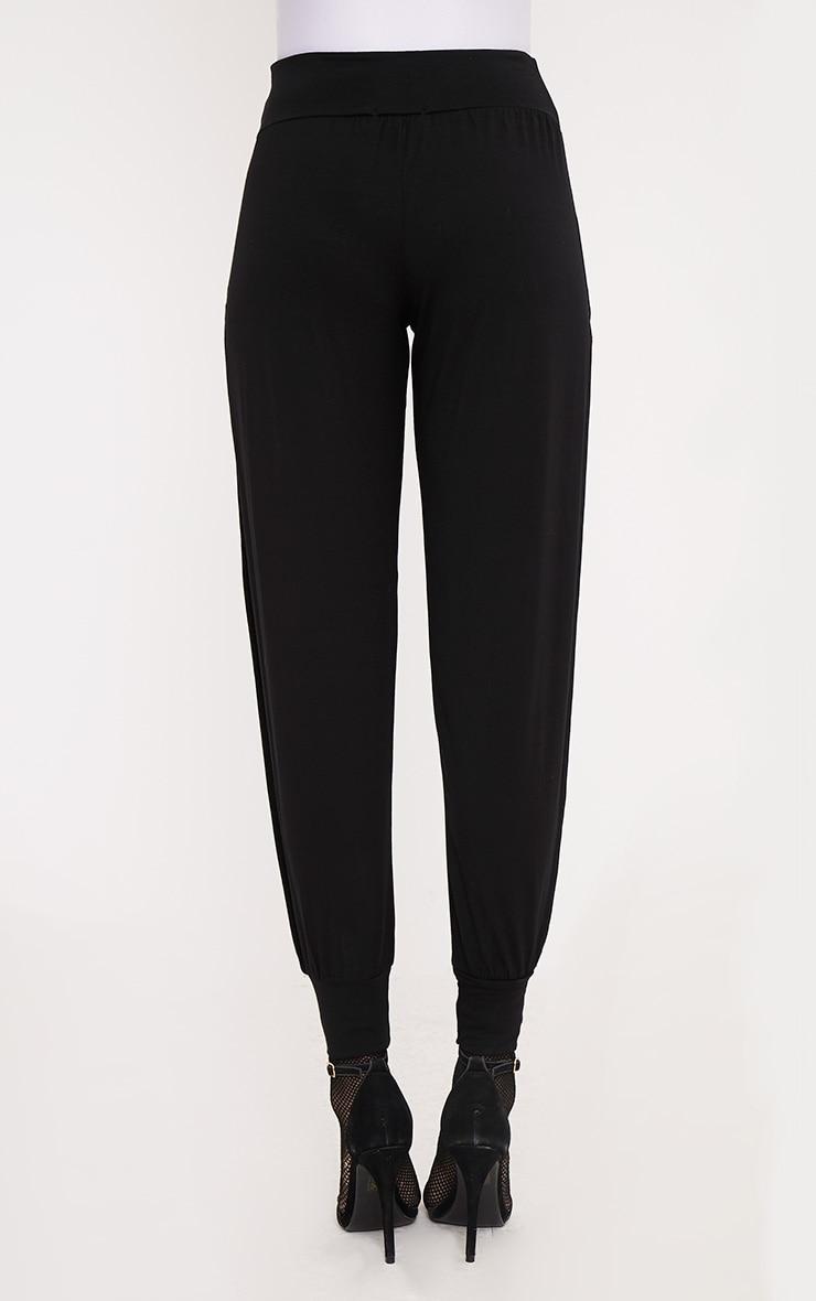 Chasity pantalon en jersey fendu sur le côté noir 4