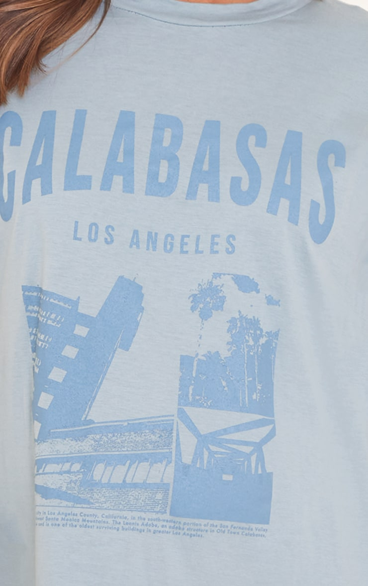 Maternity Steel Blue Calabasas T Shirt Dress 4