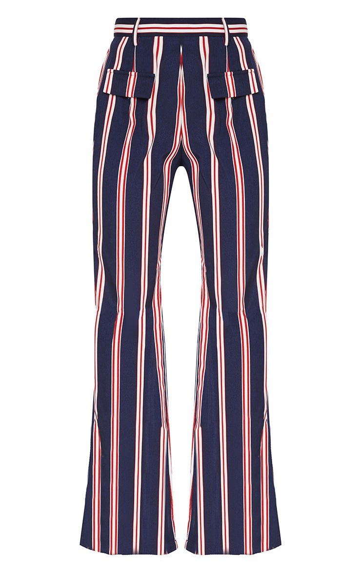 Petite Navy Stripe Wide Leg Pants 2