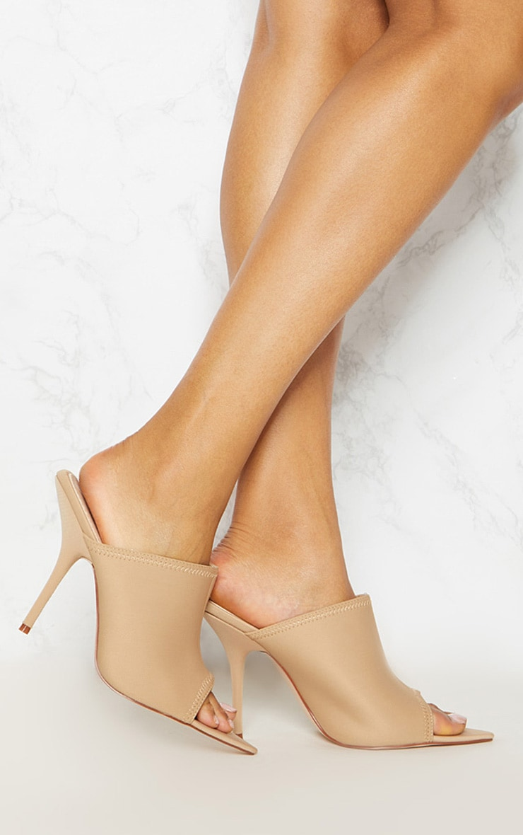 Taupe Extreme Point Mule  2