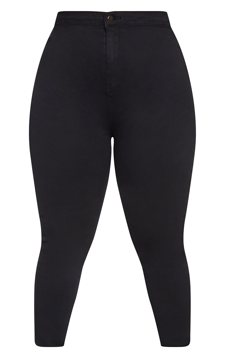 Plus PRETTYLITTLETHING Black Disco Skinny Jeans 5