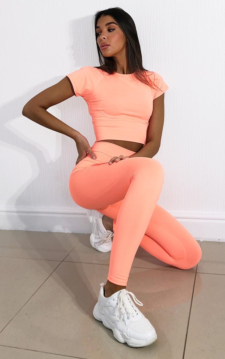 Peach Luxe High Waist Gym Leggings 1