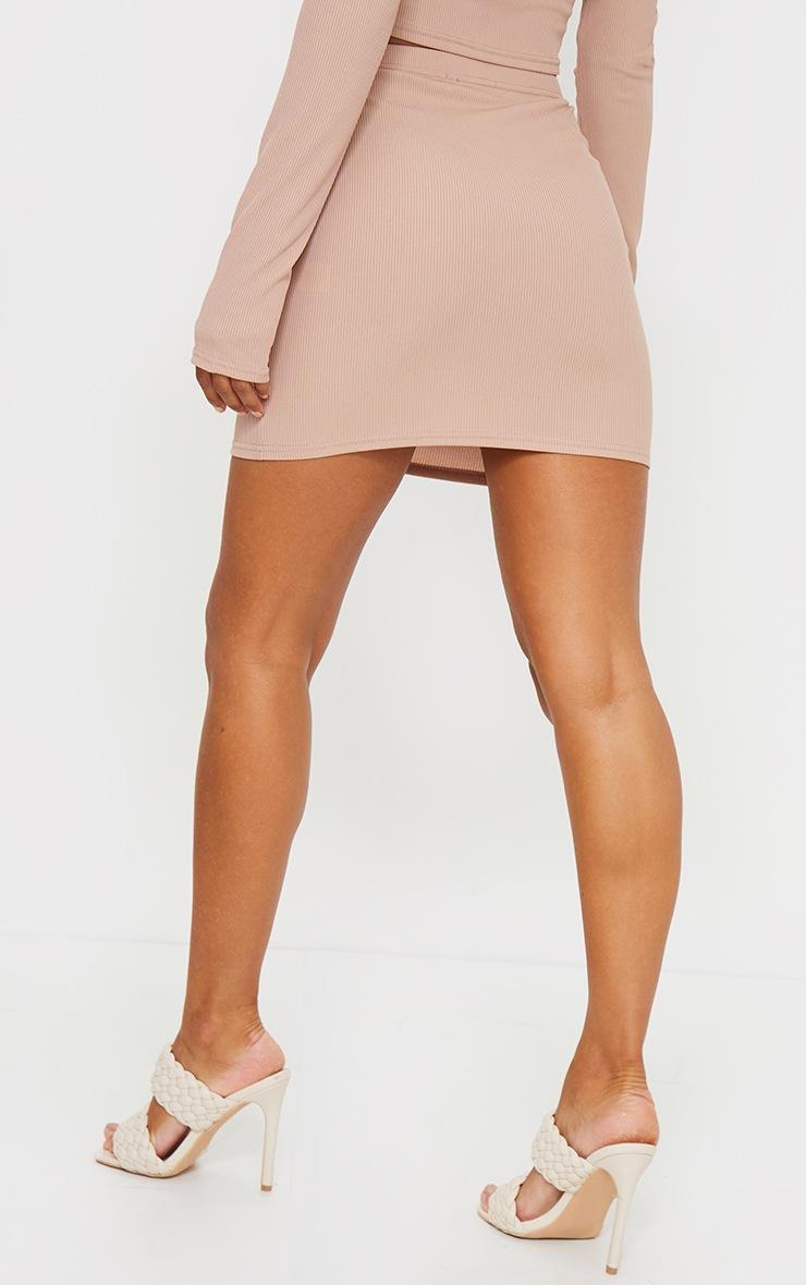 Stone Rib Popper Front Mini Skirt 3