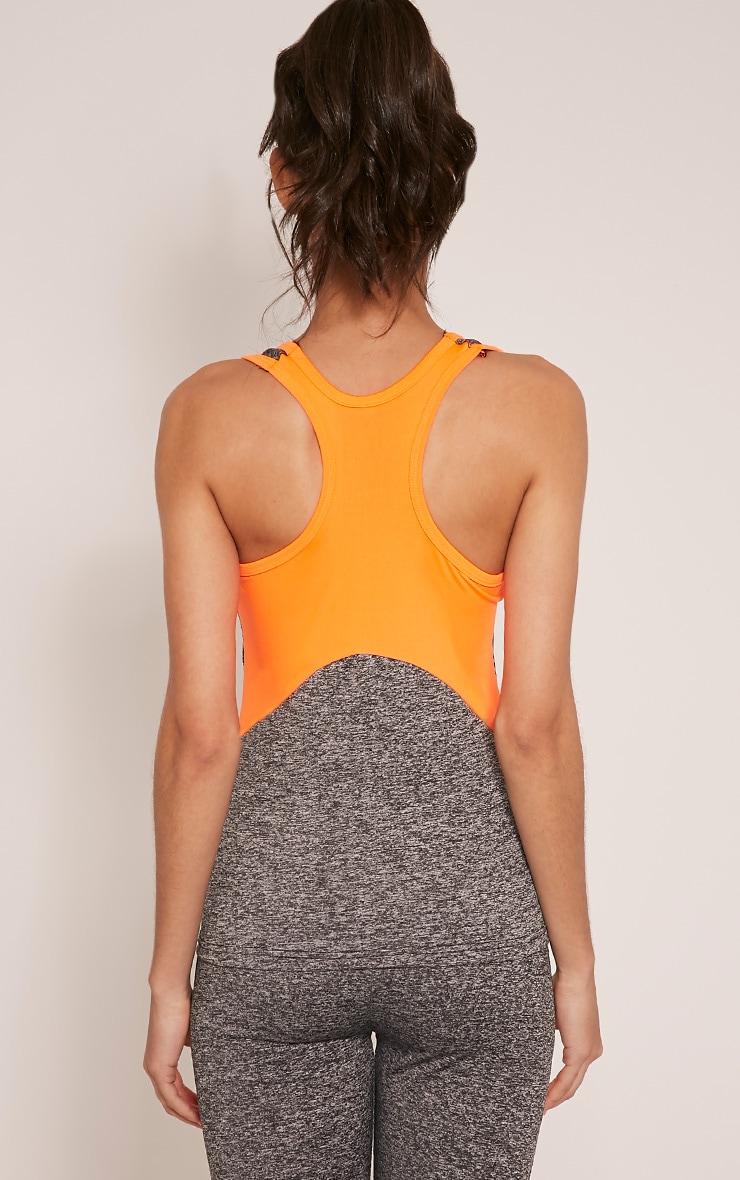 Jennie top sport à bandes orange 2